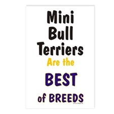 Mini Bull Terrier Best Breed Postcards (Package of