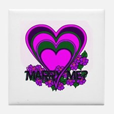 """Marry Me"" Tile Coaster"