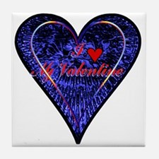 """I Love My Valentine"" Tile Coaster"