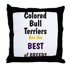 Colored Bull Terrier Best Throw Pillow