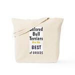Colored Bull Terrier Best Tote Bag