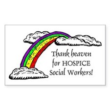 Thank Heaven Hospice Rectangle Decal
