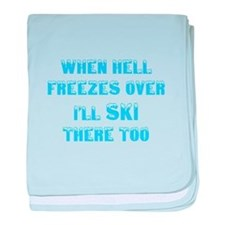 Hell freezes baby blanket