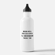 Cute Snowboard Water Bottle