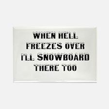 Unique Snowboard Rectangle Magnet