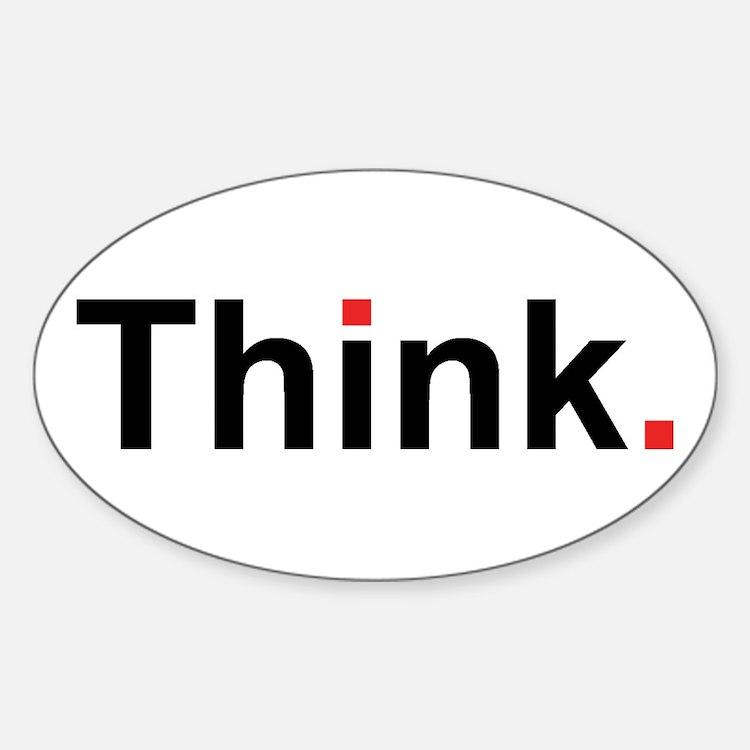 Cute Thinking Sticker (Oval)