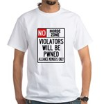 No Horde Zone White T-Shirt