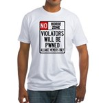 No Horde Zone Fitted T-Shirt