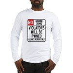 No Horde Zone Long Sleeve T-Shirt