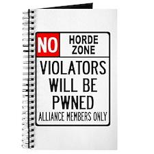No Horde Zone Journal