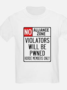 No Alliance Zone Kids T-Shirt