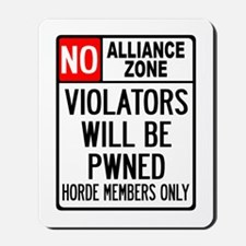 No Alliance Zone Mousepad