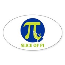 Slice of pi Oval Decal