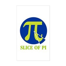 Slice of pi Rectangle Decal