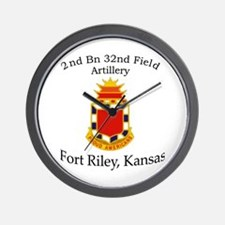 2nd Bn 32nd Field Artillery Wall Clock