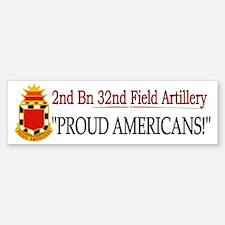 2nd Bn 32nd Field Artillery Bumper Bumper Sticker