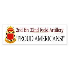 2nd Bn 32nd Field Artillery Car Sticker