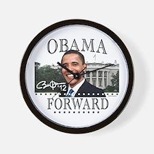 Obama Forward 2012 Wall Clock