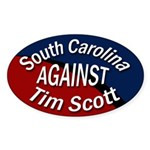 South Carolina Against Tim Scott sticker