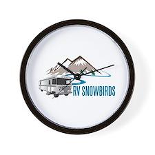 RV SNOWBIRDS Wall Clock
