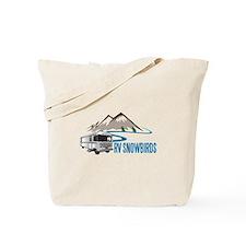 RV SNOWBIRDS Tote Bag