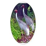 cranes Sticker (Oval)