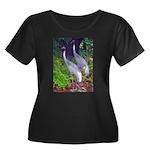 cranes Women's Plus Size Scoop Neck Dark T-Shirt