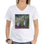 cranes Women's V-Neck T-Shirt