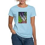 cranes Women's Pink T-Shirt