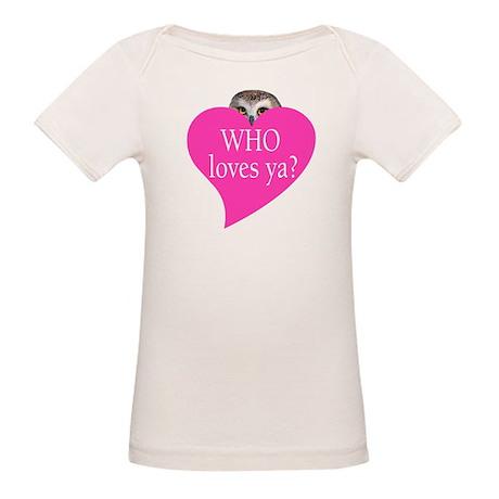 owl valentine Organic Baby T-Shirt