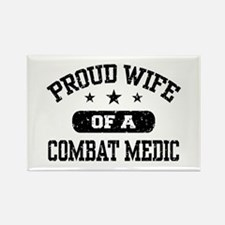Proud Combat Medic Wife Rectangle Magnet