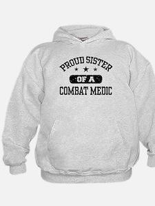 Proud Combat Medic Sister Hoodie
