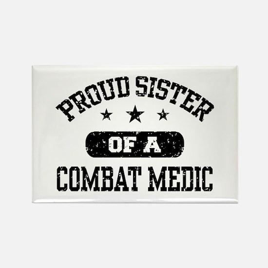 Proud Combat Medic Sister Rectangle Magnet