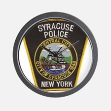 Syracuse Police Department Wall Clock