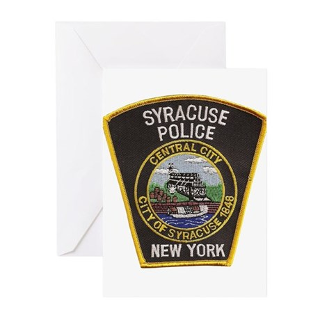 Syracuse Police Department Greeting Cards (Pk of 1