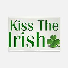Kiss the Irish Rectangle Magnet