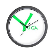 Yoga green Wall Clock