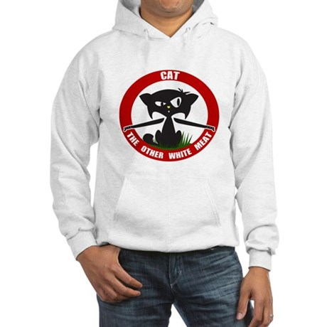 Cat The other White meat Hooded Sweatshirt