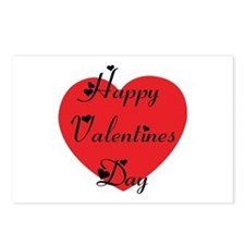 Happy Valentines Day Postcards (Package of 8)