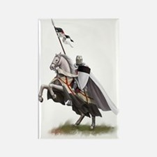 Templar on rearing horse Rectangle Magnet