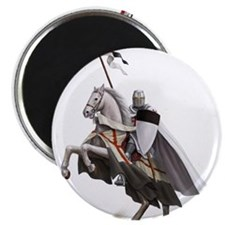 """Templar on rearing horse 2.25"""" Magnet (10 pack)"""