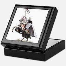 Templar on rearing horse Keepsake Box