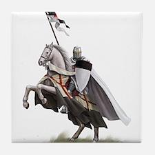 Templar on rearing horse Tile Coaster