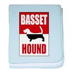 Basset Hound baby blanket