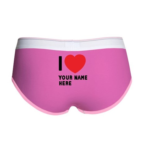 I Love ... Personal Name Women's Boy Brief