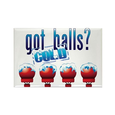 Cold Balls Rectangle Magnet