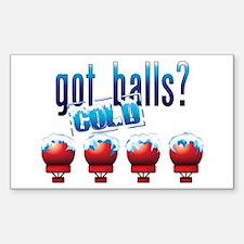 Cold Balls Sticker (Rectangle)