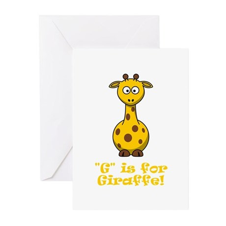 G is for Giraffe! Greeting Cards (Pk of 10)