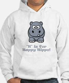 H is for Happy Hippo! Hoodie