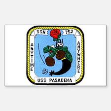 USS Pasadena SSN 752 Rectangle Decal